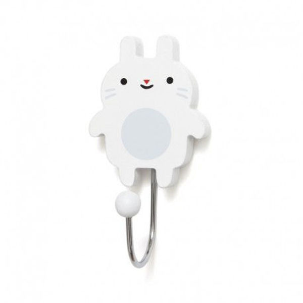 Obrazek Petit Monkey - Wieszak Little Bunny - white